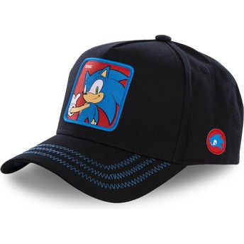 Casquette courbée noire snapback Sonic SO1B Sonic the Hedgehog Capslab