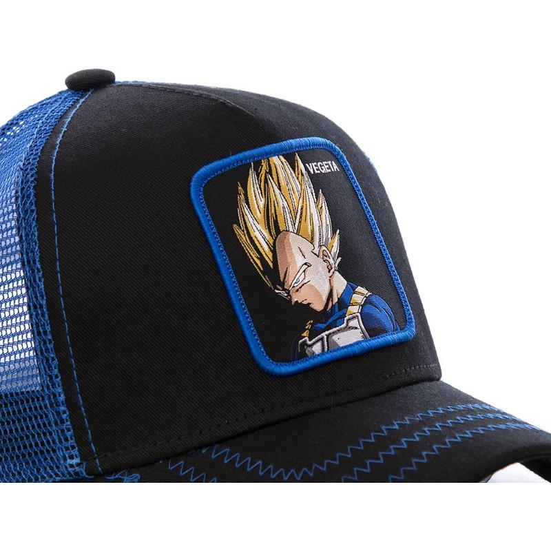 best deals on exclusive range official site Casquette trucker noire et bleue Vegeta Super Saiyan VE3 Dragon Ball Capslab