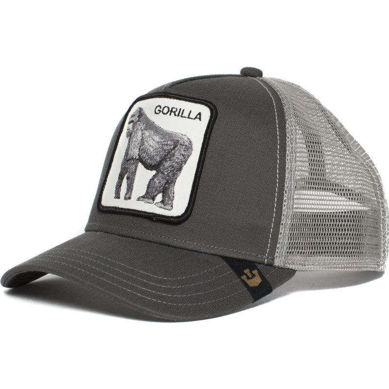 casquette-trucker-grise-gorille-king-of-the-jungle-goorin-bros