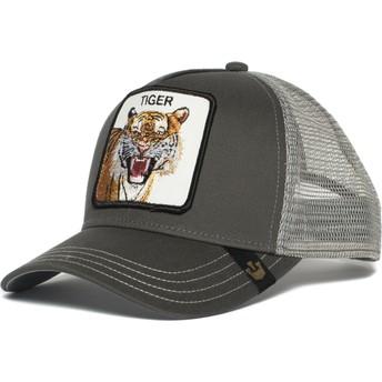 Casquette trucker grise tigre Eye of the Tiger Goorin Bros.