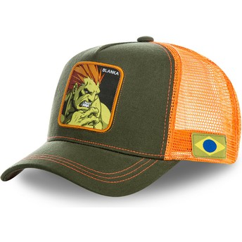 Casquette trucker verte et orange Blanka BLA Street Fighter Capslab