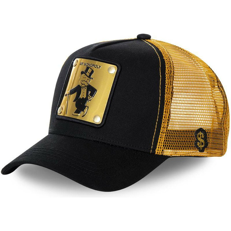 casquette-trucker-noire-et-dore-rich-uncle-pennybags-money-monopoly-capslab