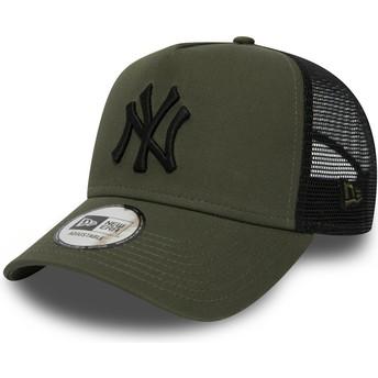 Casquette trucker verte League Essential A Frame New York Yankees MLB New Era