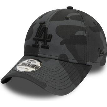 Casquette courbée camouflage noire ajustable avec logo noir 9FORTY Essential Los Angeles Dodgers MLB New Era