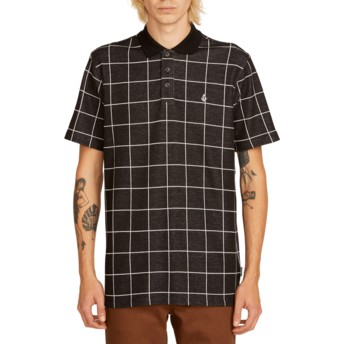 Polo à manche courte noir à carreaux Wowzer Plaid Black Volcom