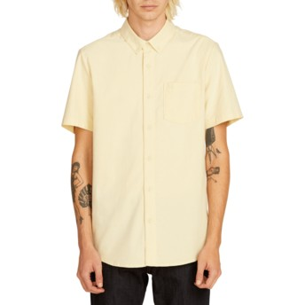 Chemise à manche courte jaune Everett Oxford Lime Volcom