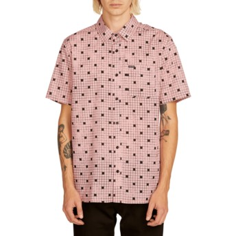 Chemise à manche courte rose Crossed Up Light Mauve Volcom
