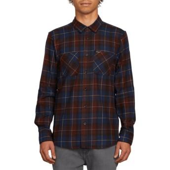 Chemise à manche longue bleue à carreaux Lumberg Flannel Melindigo Volcom