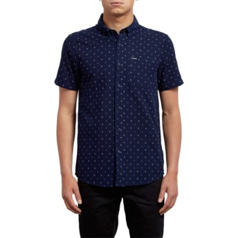 Chemise à manche courte bleue marine Earl Indigo Volcom
