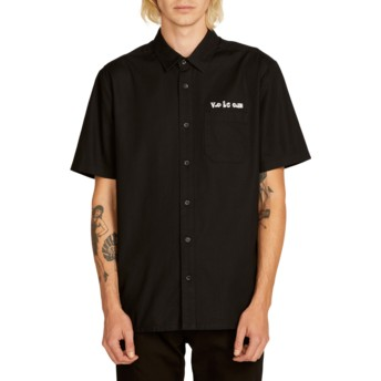 Chemise à manche courte noire Crowd Control Black Volcom