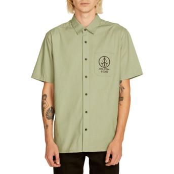 Chemise à manche courte verte Crowd Control Dusty Green Volcom