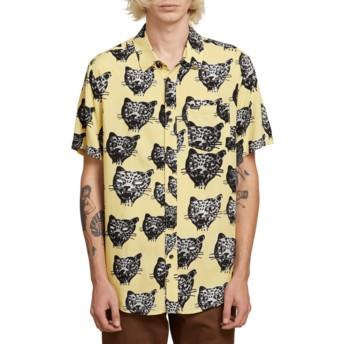 Chemise à manche courte jaune Ozzie Cat Lime Volcom