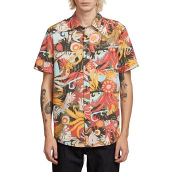 Chemise à manche courte multicolore Psych Floral Army Volcom