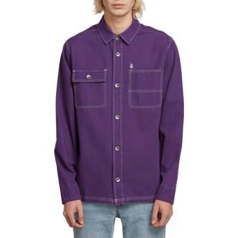 Chemise à manche longue violette Fitzkrieg Dark Purple Volcom