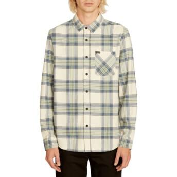 Chemise à manche longue blanche à carreaux Caden Plaid Off White Volcom