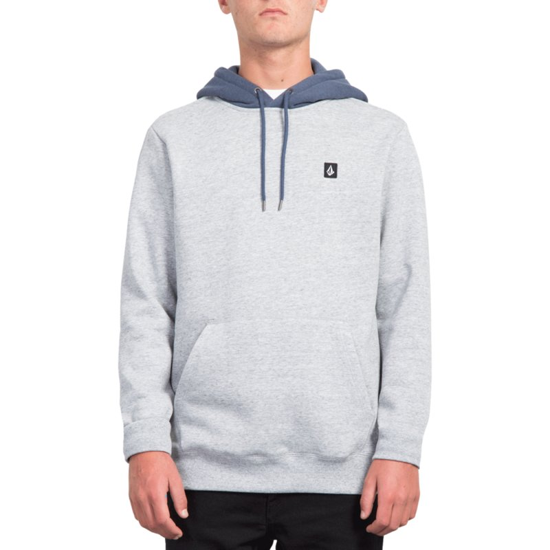 Single À Storm Capuche Sweat Bleu Stone Volcom WHED29I