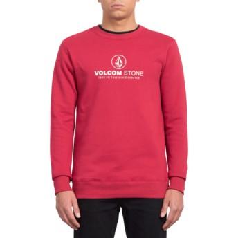 Sweat-shirt rouge General Stone Burgundy Heather Volcom