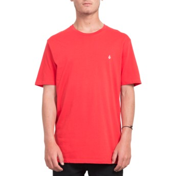 T-shirt à manche courte rouge Stone Blank True Red Volcom