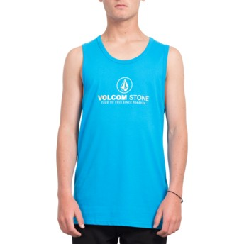 T-shirt sans manches bleu Super Clean Cyan Blue Volcom