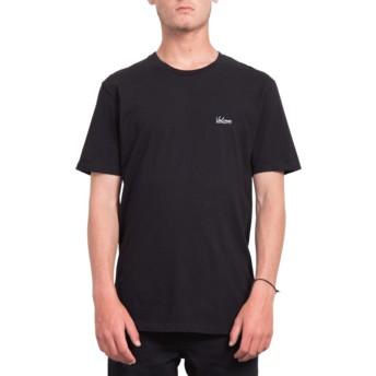 T-shirt à manche courte noir Impression Black Volcom