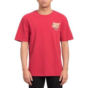T-shirt à manche courte rouge Ozzy Tiger Burgundy Heather Volcom