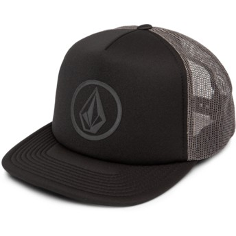 Casquette trucker noire Full Frontal Cheese Asphalt Black Volcom