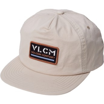Casquette plate beige snapback Nora Hat Almond Volcom