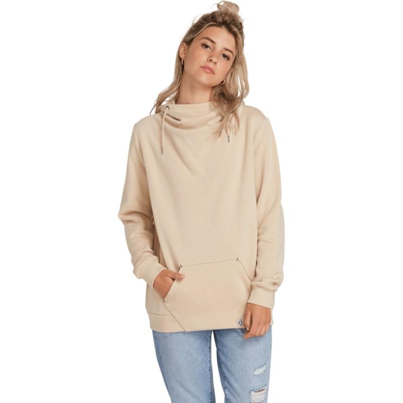 sélectionner pour authentique paquet à la mode et attrayant rechercher l'original Sweat à capuche beige Walk On By Oxford Tan Volcom
