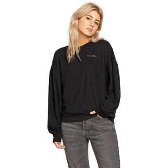 Sweat-shirt noir Fleece Pleaze Black Volcom