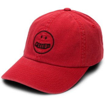 Casquette courbée rouge ajustable Good Mood Chili Red Volcom