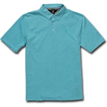 Polo à manche courte bleu pour enfant Wowzer Cyan Blue Volcom