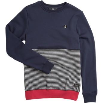 Sweat-shirt bleu marine, gris et rouge pour enfant Forzee Navy Volcom