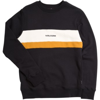 Sweat-shirt noir pour enfant Single Stone Division Black Volcom