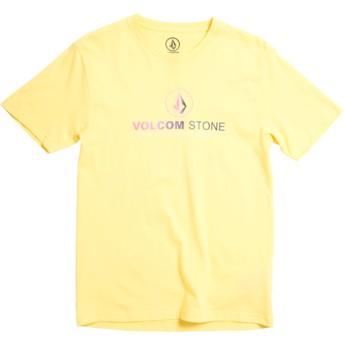 T-shirt à manche courte jaune pour enfant Super Clean Division Yellow Volcom