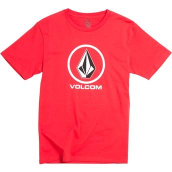 T-shirt à manche courte rouge pour enfant Crisp Stone Division True Red Volcom