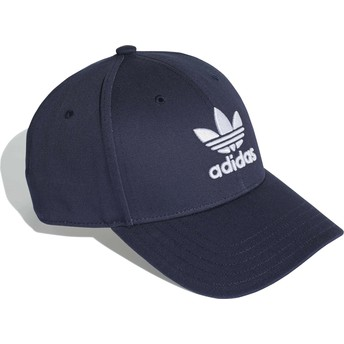 Casquette courbée bleue marine ajustable Trefoil Baseball Adidas