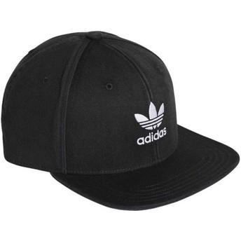 Casquette plate noire snapback Trefoil Adicolor Adidas