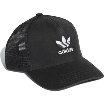 Casquette trucker noire Trefoil Adidas