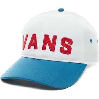 Casquette courbée blanche ajustable avec visière bleue Dugout Vans