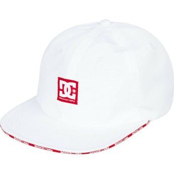 Casquette plate blanche ajustable Sandwich DC Shoes