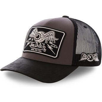 Casquette trucker grise DAMAGED Von Dutch