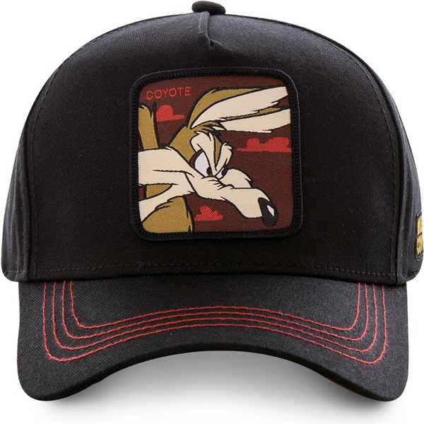 casquette-courbee-noire-snapback-coyote-coy3-looney-tunes-capslab