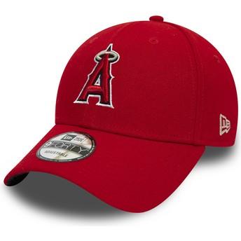 Casquette courbée rouge ajustable 9FORTY The League Anaheim Angels MLB New Era