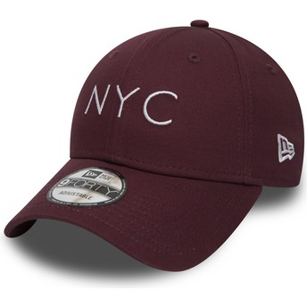 Casquette courbée grenat ajustable 9FORTY Essential NYC New Era