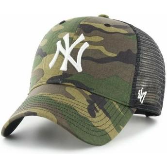 Casquette trucker camouflage avec logo blanc MVP Branson New York Yankees MLB 47 Brand