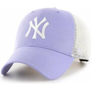 Casquette trucker violette lavande MVP Flagship New York Yankees MLB 47 Brand