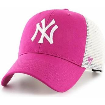 Casquette trucker rose foncé MVP Flagship New York Yankees MLB 47 Brand