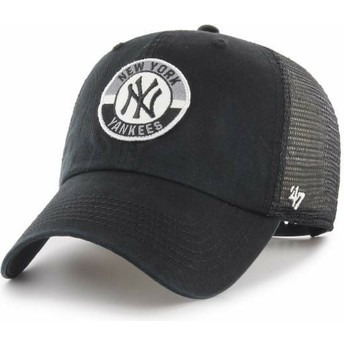 Casquette trucker noire Clean Up Porter New York Yankees MLB 47 Brand