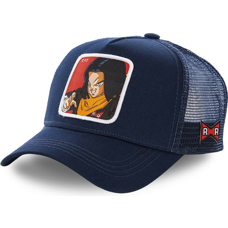 casquette-trucker-bleue-marine-android-c-17-c17a-dragon-ball-capslab