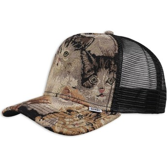 Casquette trucker multicolore We Love Ugly Cat2 Djinns